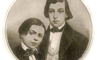 Henryk i Józef Wieniawscy, po latach, razem w Poznaniu