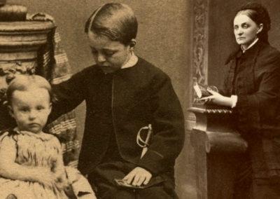Władysław Zamoyski z siostrą Marią i matką Jadwigą Zamoyską