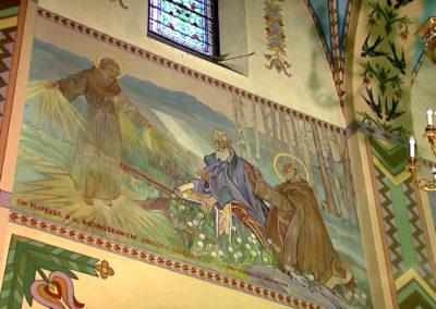 Fresk w kościele parafialnym w Zakopanem