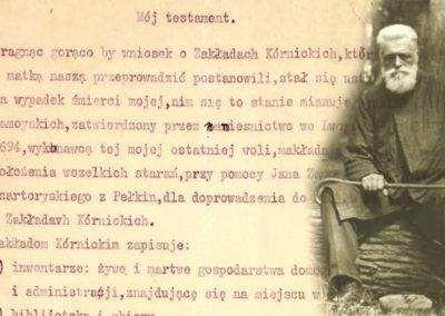 Fragment testamentu Władysława Zamoyskiego